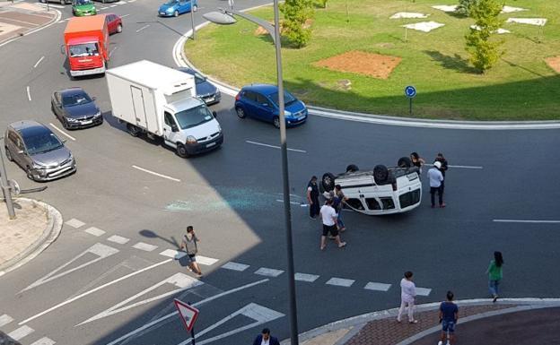 Accidente en una rotonda ¿Quién es el culpable?